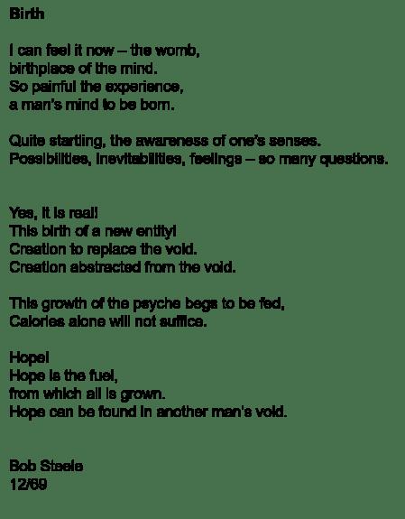 Birth poem